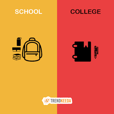 difference between school and college life best written articles in english