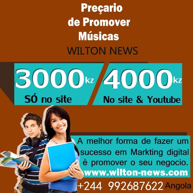 Preçario de Promover Músicas