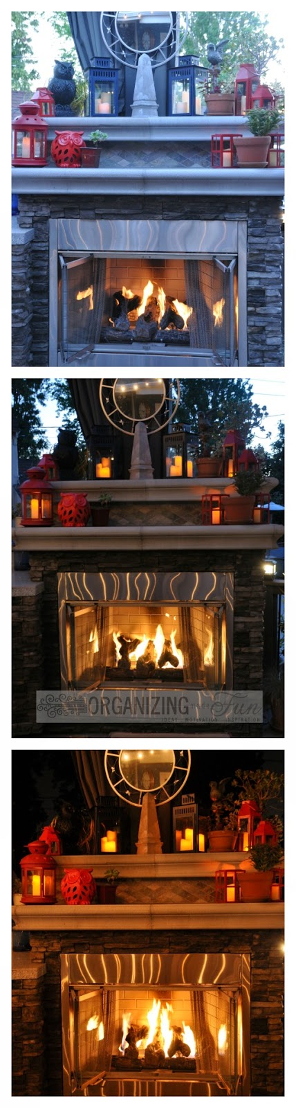 Outdoor Fireplace :: OrganizingMadeFun.com