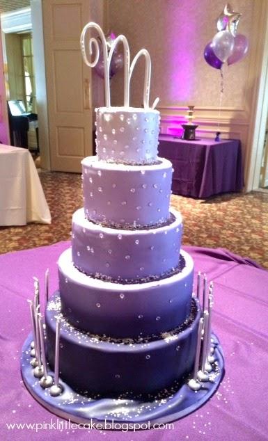 Sweet 16 Ombre Purple Birthday Cake