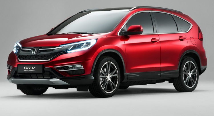 honda 39 s 2015 cr v facelift for europe gets new 160ps 1 6l diesel. Black Bedroom Furniture Sets. Home Design Ideas