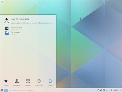 Kubuntu 14.10 Utopic Unicorn Beta 1 Plasma 5