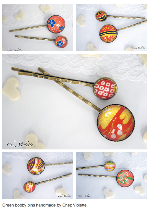 red bobby hair pin by chez violette