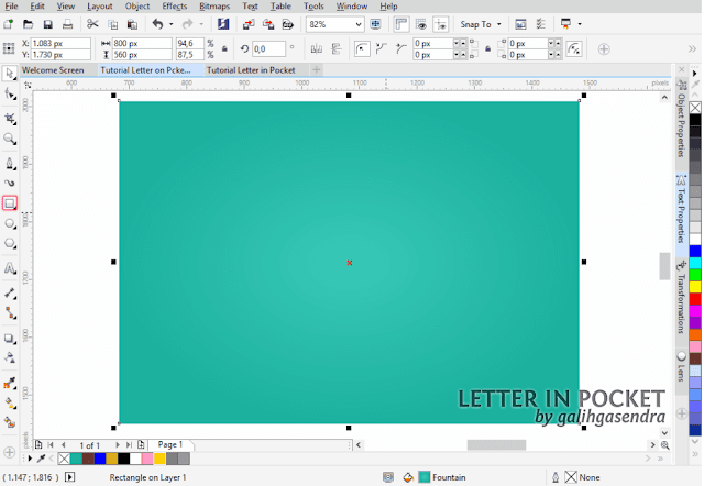 Corel Draw Tutorial Text Effect