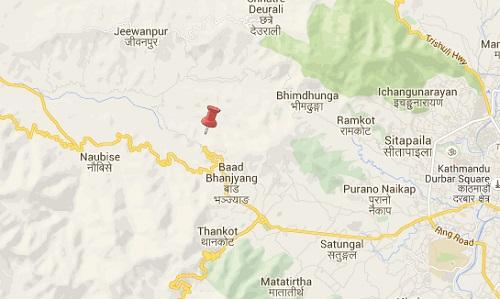 kalanki kathmandu earthquake map