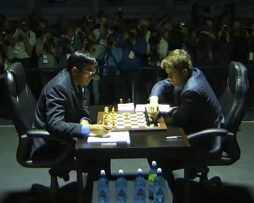 Anand Carlsen - Partida 1 - Sochi 2014