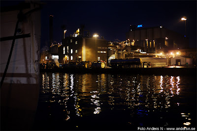 karlshamn, karlshamns hamn, hamnen, natt, kväll, vinternatt, vinterkväll, blekinge, industri, karlshamns ab, aak, aarhus karlshamn, aarhuskarlshamn, tsyfpl, foto anders n