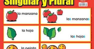 Resultado de imagen de singular y plural