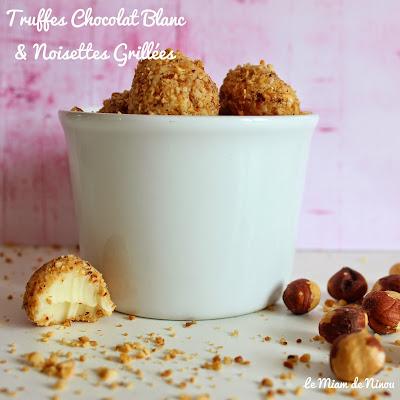Illustration Truffes Chocolat Blanc & Noisettes Grillées