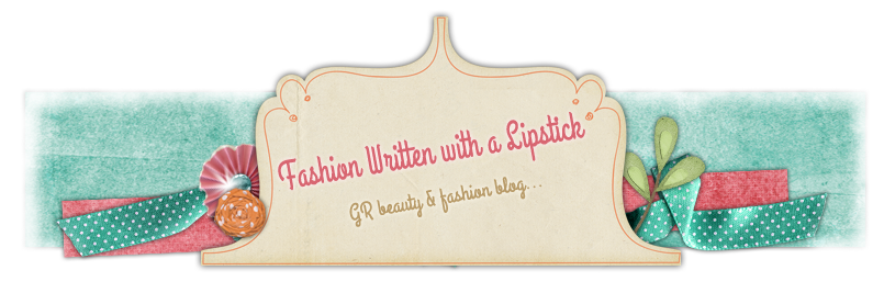 Fashion Written With A Lipstick | GR Beauty & Fashion Blog