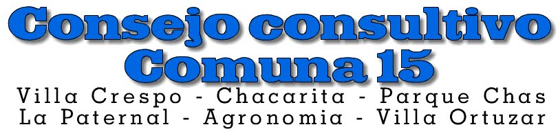 Consejo Consultivo Comunal  de la Comuna 15