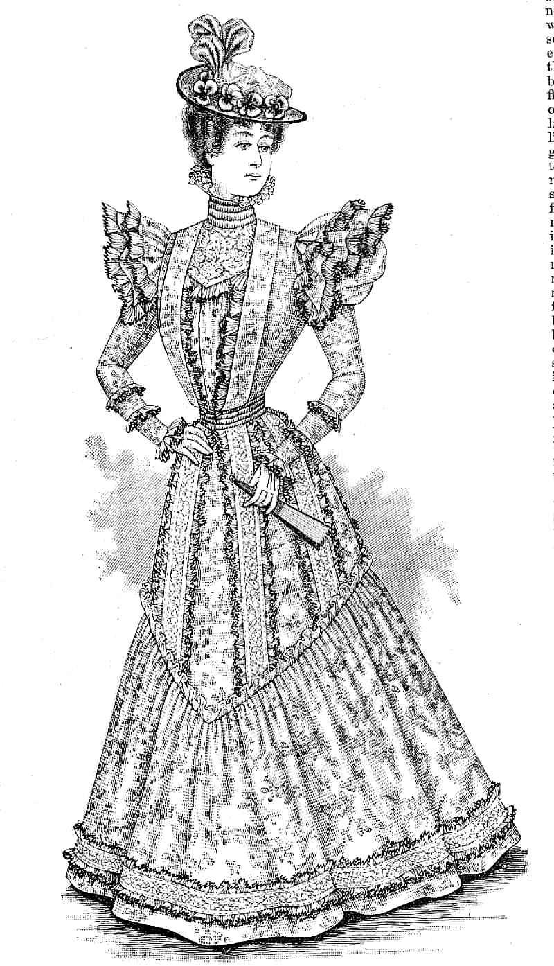 Early 1900s Summer Dresses Fashion Magazine Illustration
