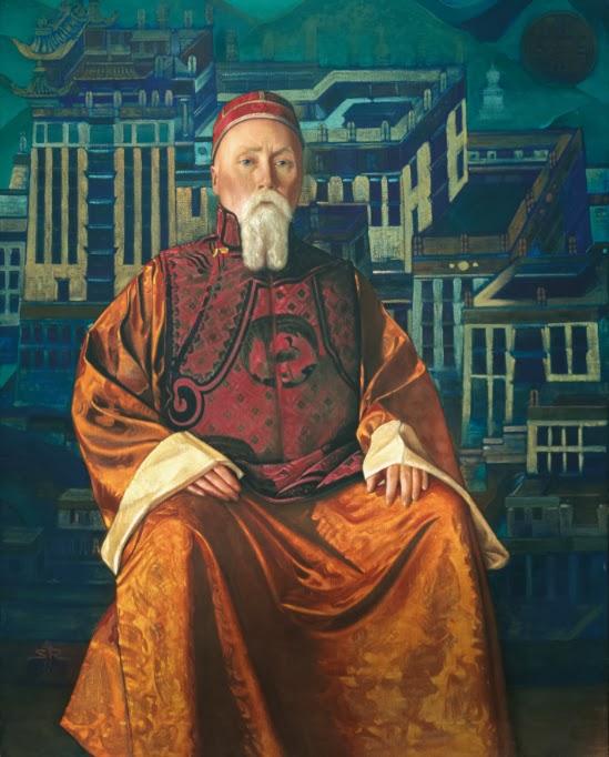 С.Н.Рерих. Портрет Н.К.Рериха в тибетском одеянии. 1933