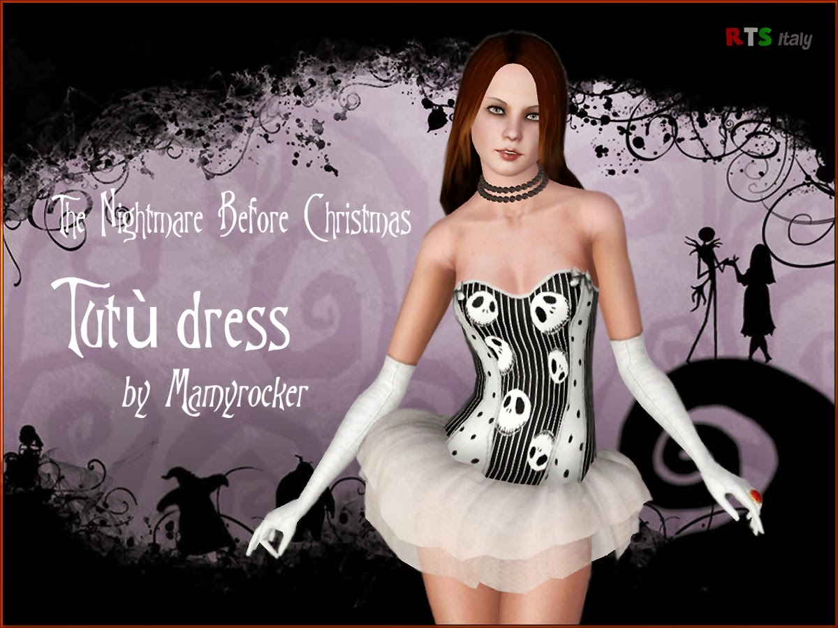 My Sims 3 Blog: The Nightmare Before Christmas Tutu Dress by MamyRocker