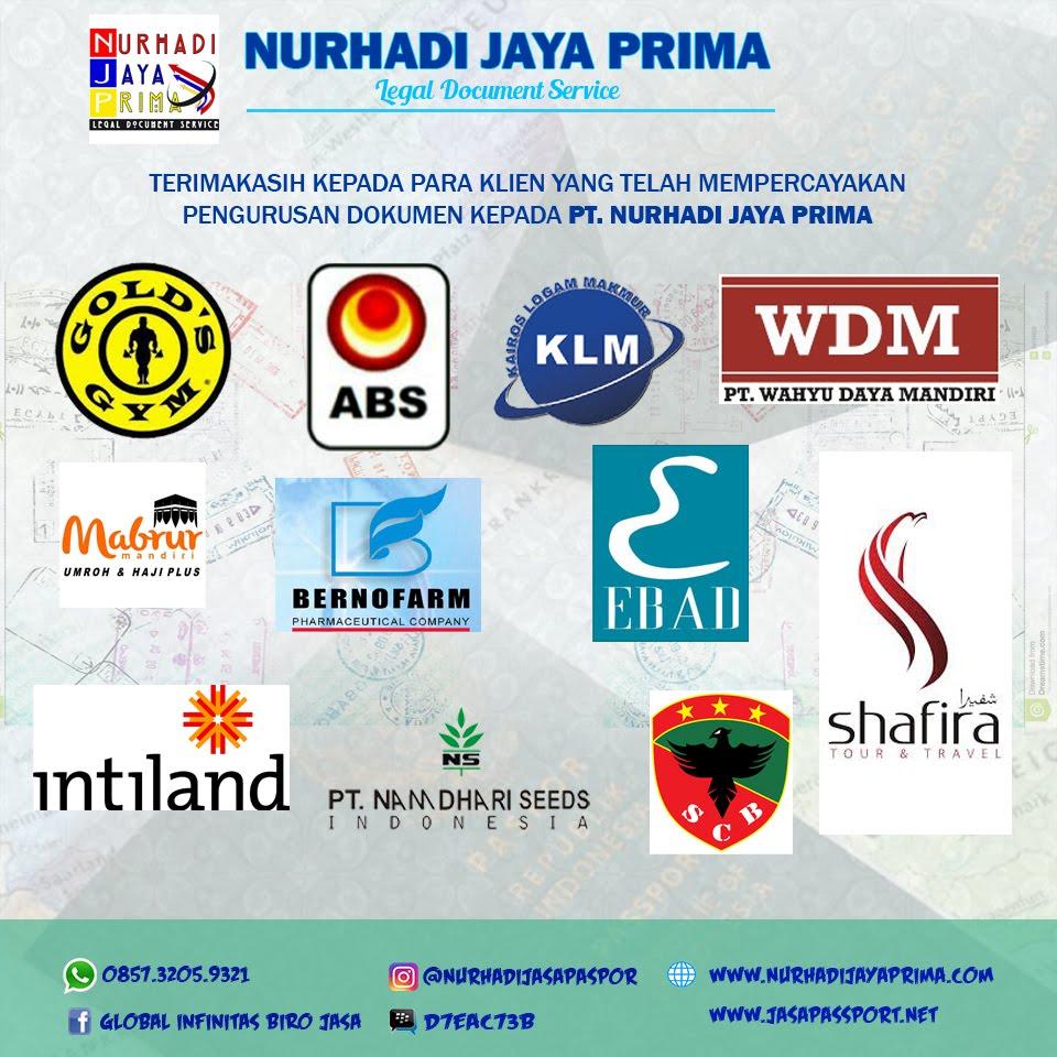 DAFTAR KLIEN PT. NURHADI JAYA PRIMA