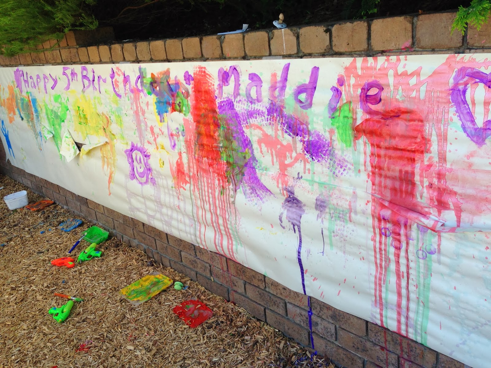Learn with play at home ideas for an art party for Painting ideas for 4 year olds