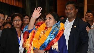 bidya bhandari elected first female president of Nepal