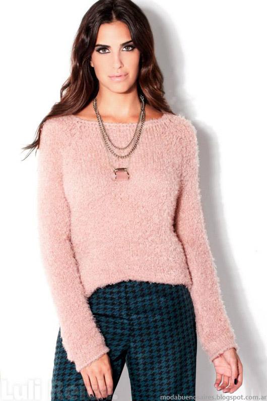 Moda Argentina otoño invierno 2014. Luli Reich invierno 2014 sweaters.