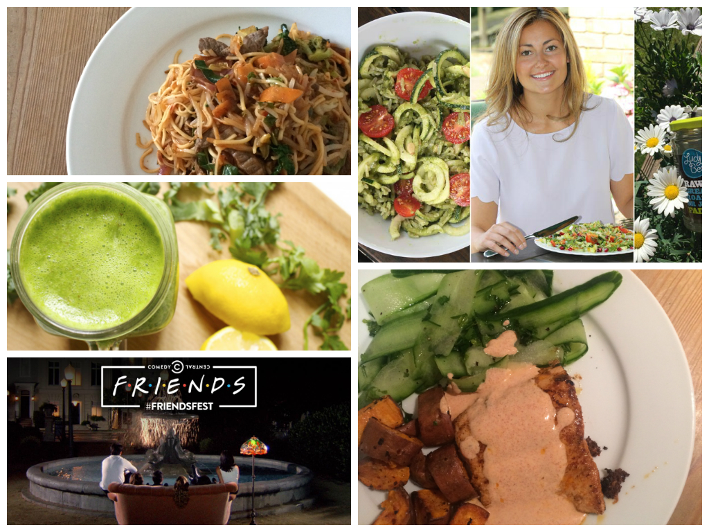 She's So Lucy Weekly Loves #6 Lucy Bee Week On a Plate How to Build Green Smoothie Yumbles FriendsFest Madeleine Shaw Get The Glow Spicy Salmon Inside Out Review