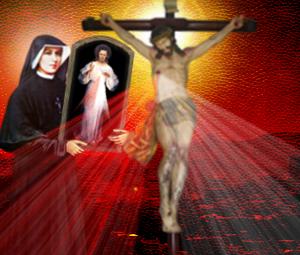 santa faustina y cruz