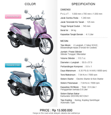 Prices And Specifications Yamaha Mio Fino Edy Oto Speed