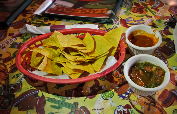 Chips and Salsa  at Taqueria Mexico in Waltham Massachusetts
