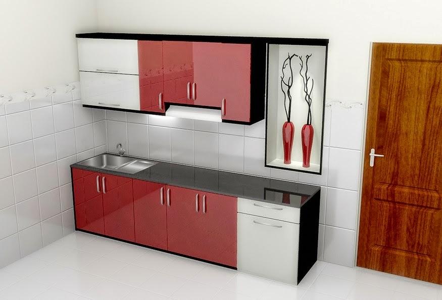 Kitchen set lurus dan minibar semarang kitchen set for Kitchen set lurus