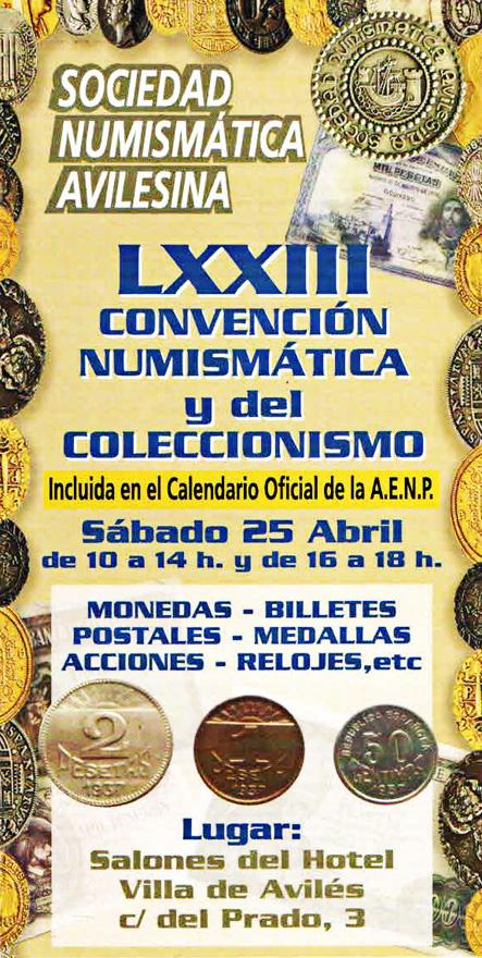 Convención Numismática y de Coleccionismo, Avilés 2015