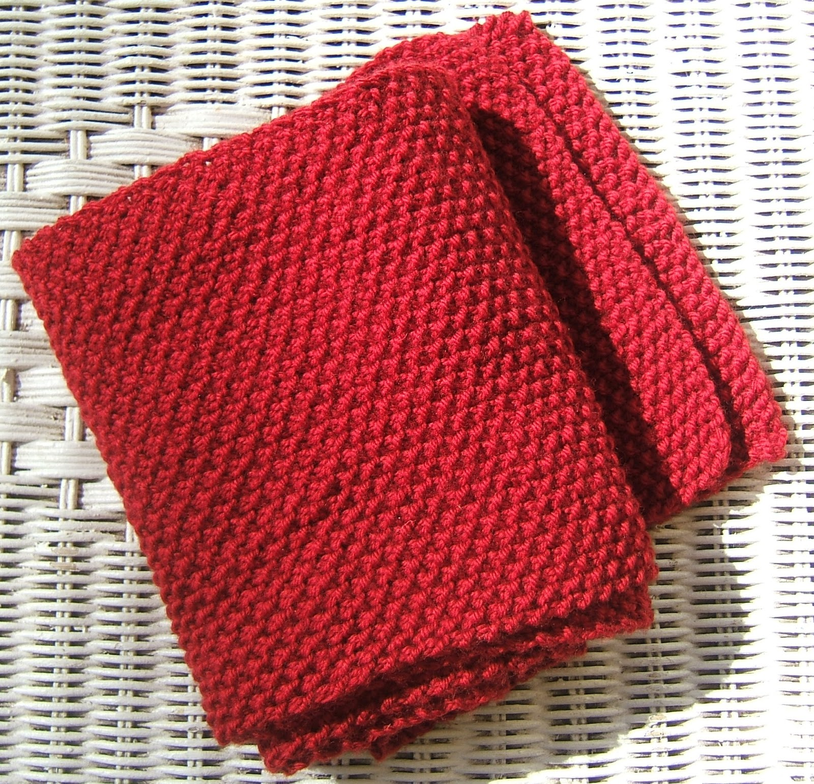 aussie knitting threads: Moss Stitch Scarf - Beginners