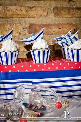 Cupcakes caseros motivos naúticos