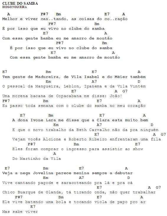 Meu cavaquinho cifra clube do samba diogo nogueira