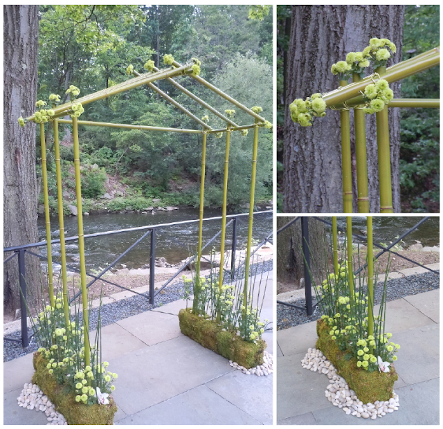 Bamboo arbor used for this Modern Zen Wedding