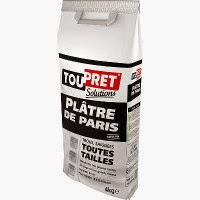 Paquet de 4kg de plâtre de paris Toupret