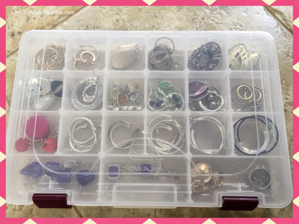 Jewelry Tackle Box Earrings Travel Case Home Organization Plano