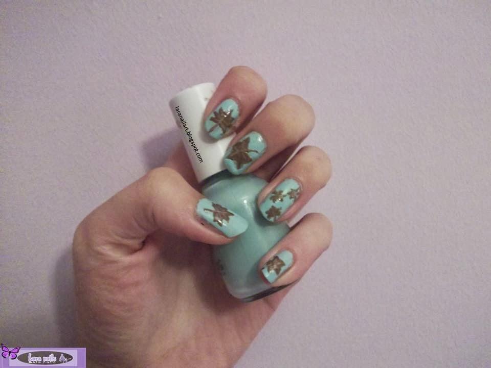 Diseño de uñas de hojas de otoño , paso a paso, DIY lara nails