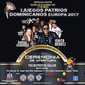 Ceremonia apertura I Juegos Patrios Dominicanos Europa 2017