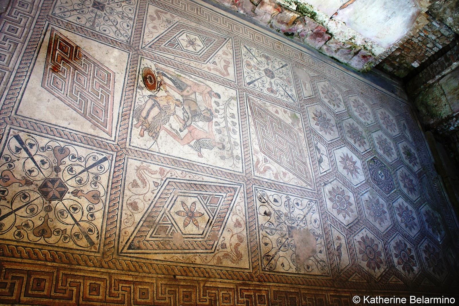 Roman Floor Mosaic Pula Croatia