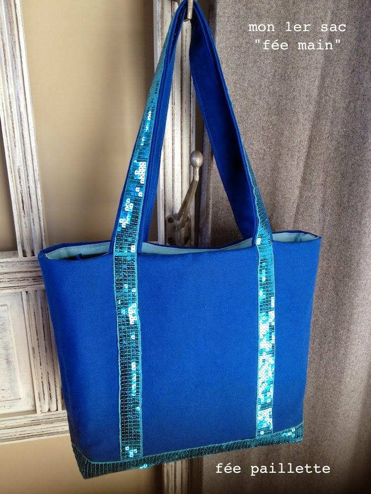 Les astuces de f e paillette couture mon premier sac for A couture mon