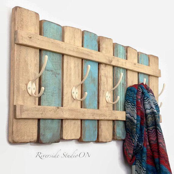 cabideiro de madeira reuso