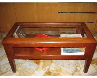 Tavolino_Arte_Povera,Vetrinetta,Bacheca,legno_noce,massello,Vintage ...