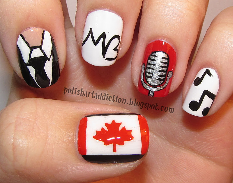 Combining my two loves nail art tribute to him and his music to all my canadian followers you are unbelievably fortunate to share a country of origin with a man of that prinsesfo Choice Image