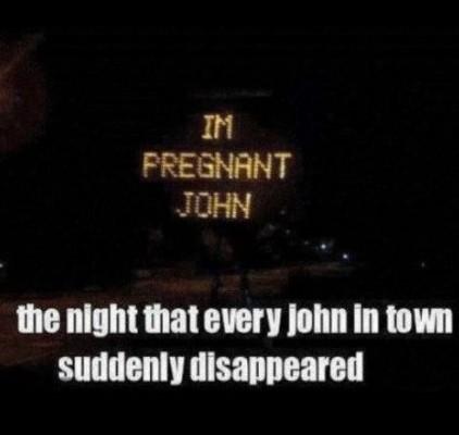 Die Nacht in der alle Johns verschwanden.