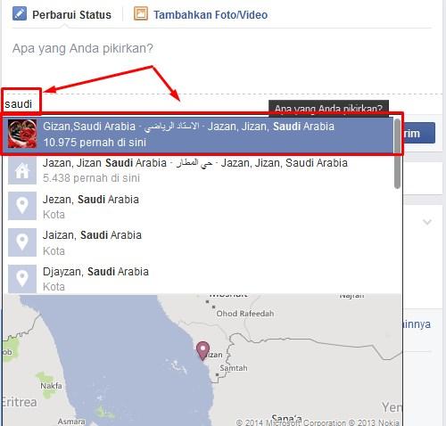 Cara Membuat Status Facebook Berada Di Negara Lain