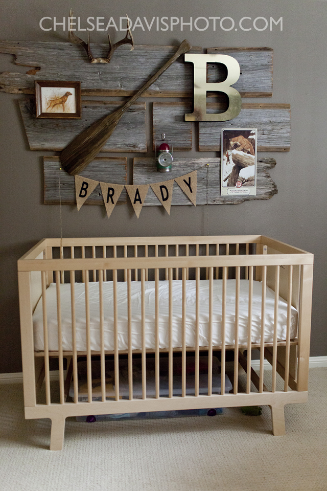 Fawn over baby vintage hunting nursery designed by ashley for Baby boy s room decoration