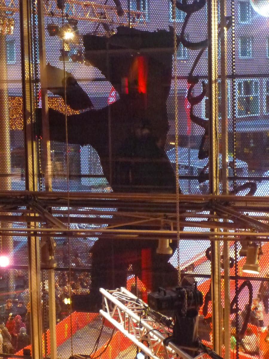 Blick aus dem Festivalpalast auf den roten Teppich