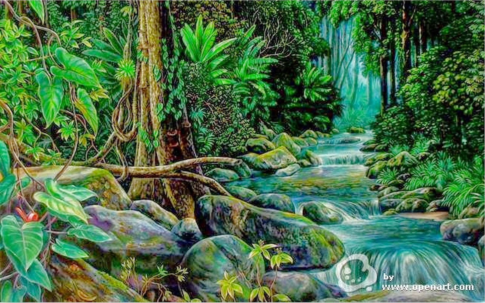 paisajes-de-bosques-y-selvas-pintura