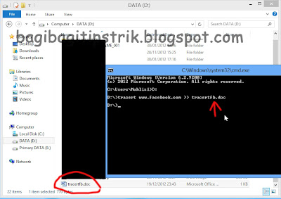 Contoh Membuat File Output Command Prompt