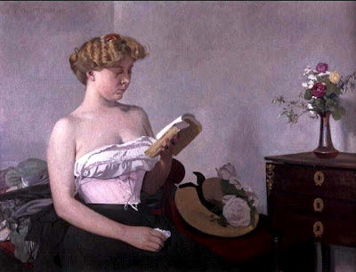 Félix Vallotton. Woman Reading,  1906