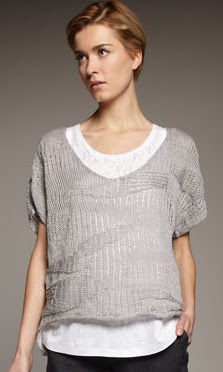 Metallic V-Neck Sweater