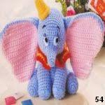 patron gratis elefante Dumboamigurumi, free amigurumi pattern elephant Dumbo